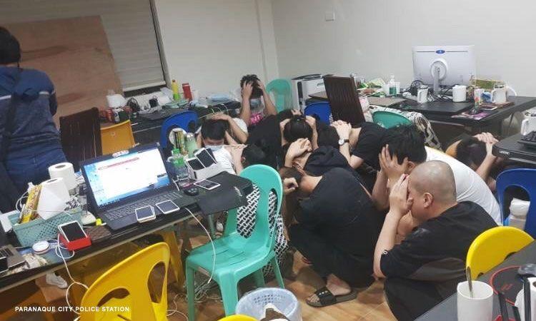 25 คนจีนถูกจับในข้อหาการพนันออนไลน์ที่ผิดกฎหมาย